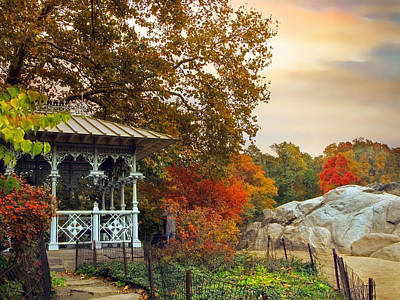Ladies Pavilion In Autumn Poster by Jessica Jenney