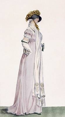 Ladies Promenade Dress, Illustration Poster