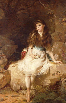 Lady Edith Amelia Ward Daughter Of The First Earl Of Dudley Poster by George Elgar Hicks