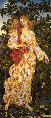 Lady Flora Goddess Of Blossoms And Flowers Poster