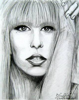 Poster featuring the drawing Lady Gaga by Patrice Torrillo