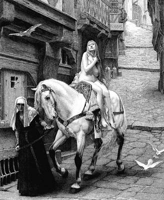 Lady Godiva On Her Horse Poster by Collection Abecasis