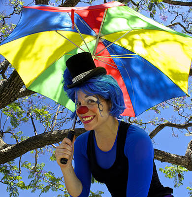 Lady Green Apple With Her Umbrella Poster by Venetia Featherstone-Witty