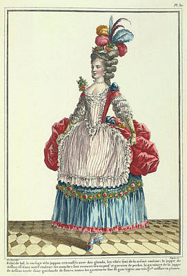 Lady In A Ball Dress Poster by British Library