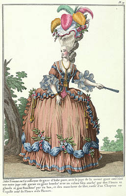 Lady In A Circassian Dress Poster by British Library