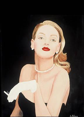 Lady In Black Poster by Jo Adams