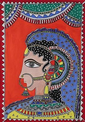 Lady In Ornaments Poster by Shakhenabat Kasana