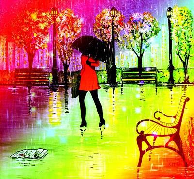 Rain1 Poster by Kenneth A Mc Williams