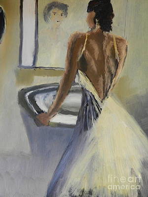 Poster featuring the painting Lady In The Mirror by Pamela  Meredith