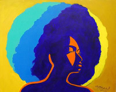 Lady Indigo Poster