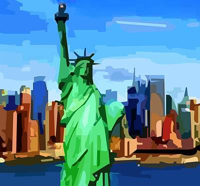 Poster featuring the digital art Lady Liberty by P Dwain Morris