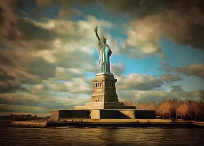 Lady Liberty The Statue- Nyc Poster by Georgiana Romanovna