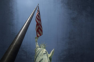 Lady Liberty Vegas Poster