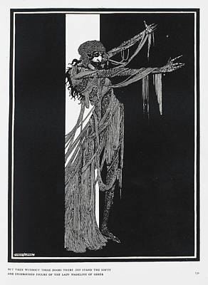 Lady Madeline Of Usher Poster by British Library