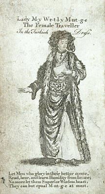 Lady Mary Wortley Montagu Poster by British Library
