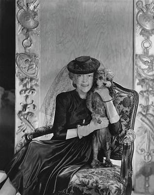 Lady Mendl With Her Poodle Poster by Horst P. Horst