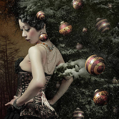 Lady Of December\'s Tree Poster