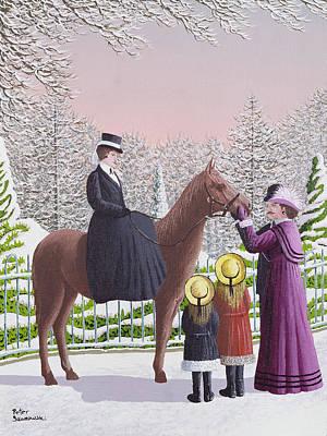 Lady On Horseback Poster