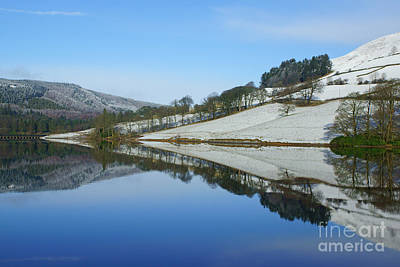 Ladybower Winter Reflections Poster