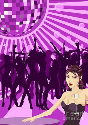 Ladys Night Illustration Poster