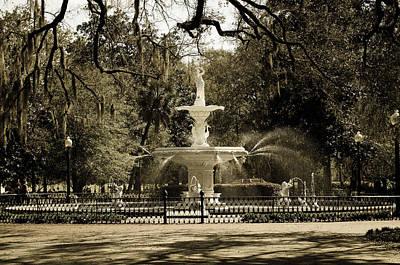 Lafayette Square In Savannah Poster