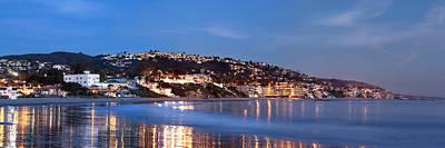 Laguna Beach Coastline At Night Poster by Cliff Wassmann