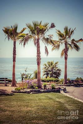 Laguna Beach Heisler Park Retro Picture Poster by Paul Velgos