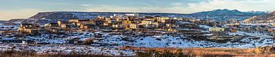 Winter Afternoon Laguna Pueblo - Native American Pueblo Photograph Poster