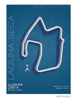 Laguna Seca Poster by Kelly Bremer