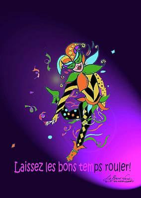 Laissez Les Bon Temps Rouler Poster by Lizi Beard-Ward