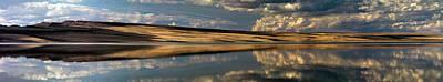 Lake Abert Panoramic Poster by Leland D Howard