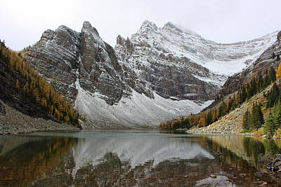 Poster featuring the photograph Lake Agnes by Ramona Johnston