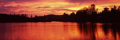 Lake At Sunset, Vermont, Usa Poster