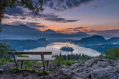 Lake Bled Poster by Robert Krajnc