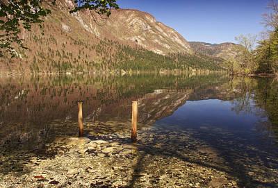 Poster featuring the photograph Lake Bohinj by Graham Hawcroft pixsellpix