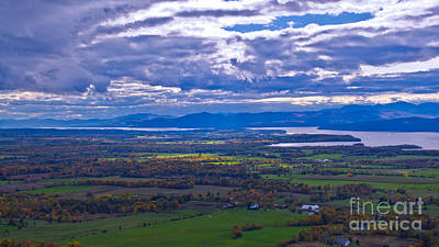 Lake Champlain From The Top Of Mount Philo. Poster