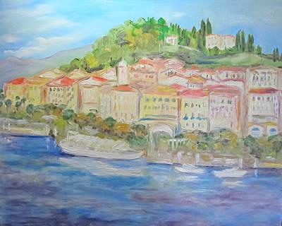 Lake Como Italy Village Poster