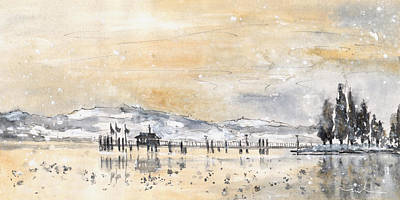Lake Constance In Winter Poster by Miki De Goodaboom