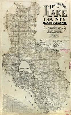 Lake County California Map Poster