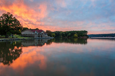 Lake Dardanelle State Park Sunrise Poster by Kurt Jones