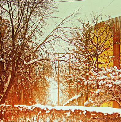 Lake Effect Snow At  North Monroe Grand Rapids Michigan Poster