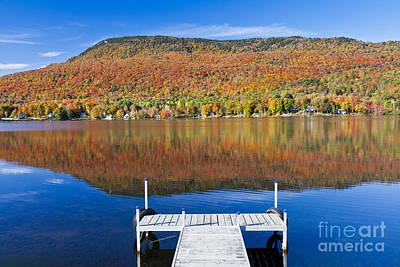 Lake Elmore Autumn Poster by Alan L Graham