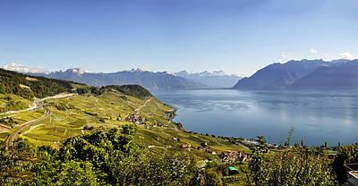 Lake Geneva Vineyards Poster by Rob Hemphill