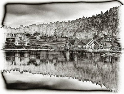 Lake House Reflection Poster