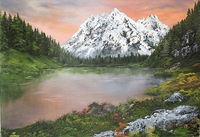 Poster featuring the painting Lake In Austria by Jean Walker