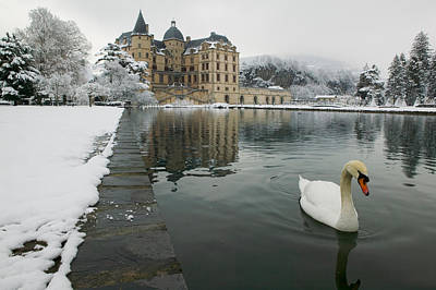 Lake In Front Of A Chateau, Chateau De Poster by Panoramic Images