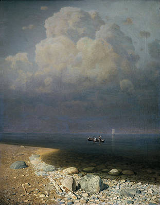Lake Ladoga, 1873 Oil On Canvas Poster by Arkip Ivanovic Kuindzi
