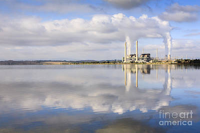 Lake Liddell Power Station Nsw Australia Poster by Colin and Linda McKie