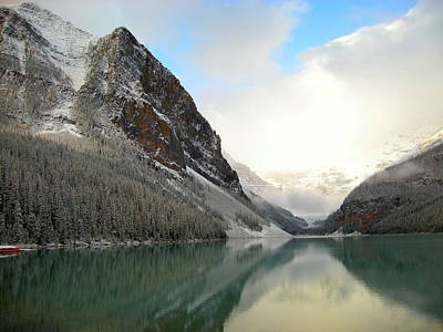 Lake Louise After The Dusting Of Snow Poster