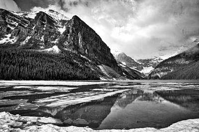Lake Louise - Black And White #3 Poster